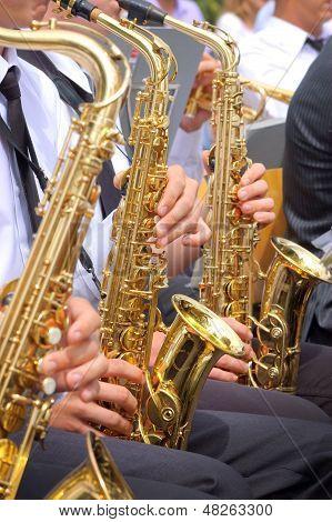 Saxophone background