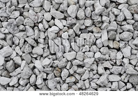 background made of a closeup of a pile of crushed stone