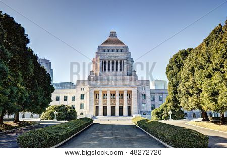 The National Diet House of Japan. poster