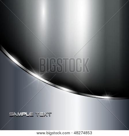 Metallischen Hintergrund poliert steel textur, Vector.