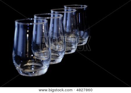 Four Glasses In A Diagonal Row - Horizontal
