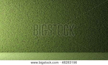Wall Of Grass With Backlight 3D Rendered