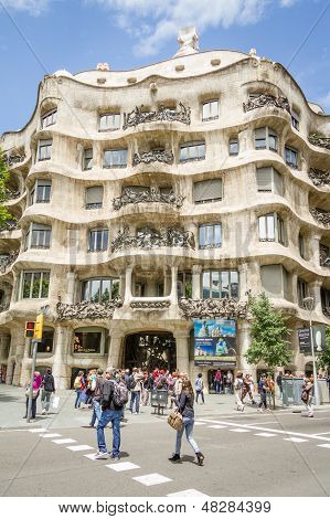 The Casa Mila, Better Known As La Pedrera, In Barcelona, Spain