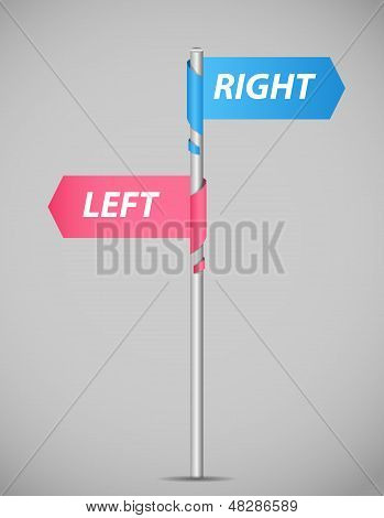 Left right pointer vector illustration. This is file of EPS10 format. poster