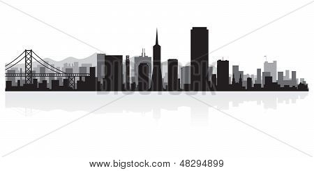 San Francisco City Skyline Silhouette