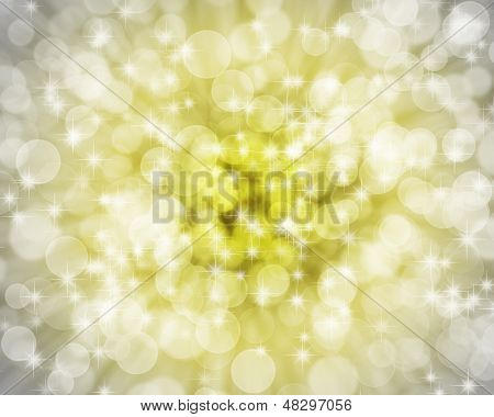 Gold and silver bokeh background