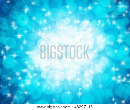 Blue ocean bokeh background