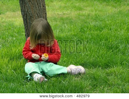 Girl Sitting Under Tree