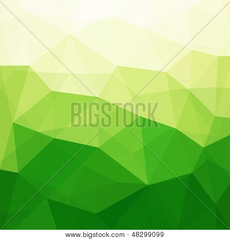 Abstract Green Triangle Background, Vector Illustration EPS10, Contains Transparent Objects poster