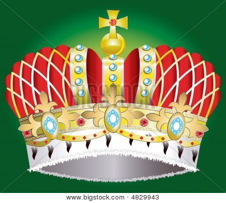 Abstract Medieval Royal Crown