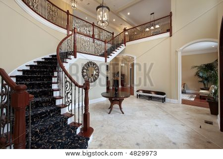 Foyer In Luxury Home