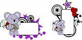koala cupid cartoon baby love copyspace in vector format poster