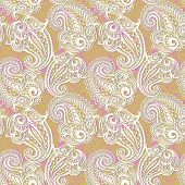 Paisley seamless lace pattern--model for design of gift packs, patterns fabric, wallpaper, web sites, etc. poster