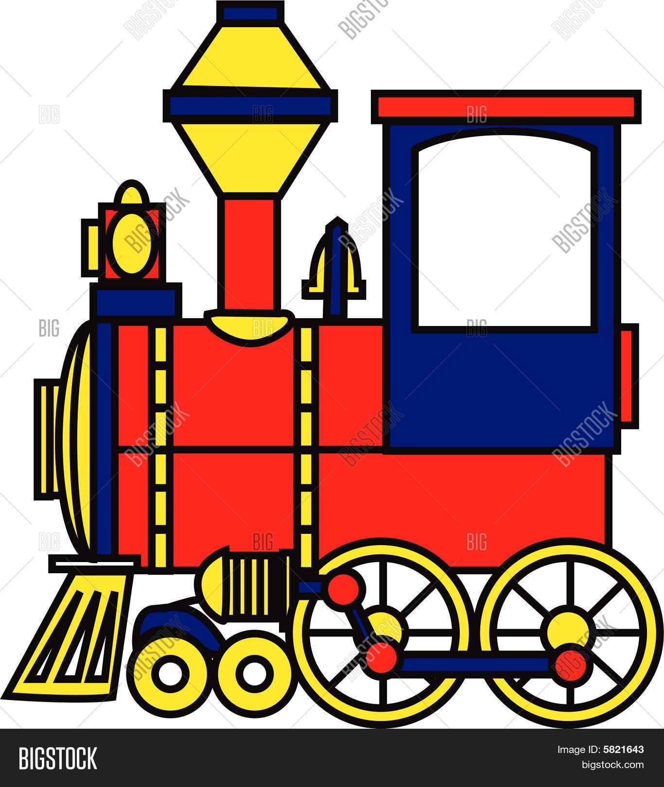 Toy Train Color Vector Photo Free Trial Bigstock