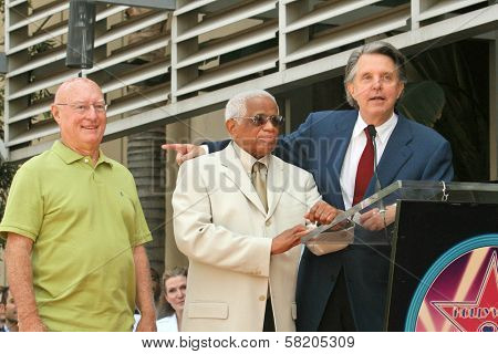 Richard Whitehouse with Eddie Raye and Mike Curb at the Ceremony honoring Mike Curb with a star on the Hollywood Walk of Fame. Vine St, Hollywood, CA. 06-29-07