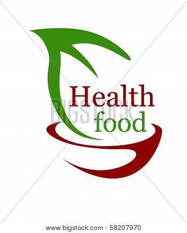 Health vegetarian food icon