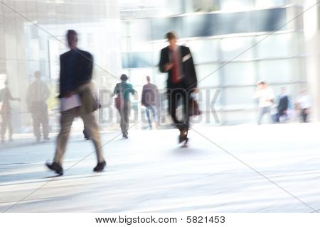 Office Workers, Motion Blur.