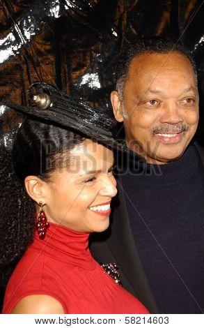 Victoria Rowell and Jesse Jackson at Ebony's Pre-Oscar Celebration