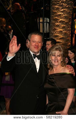 Al Gore and Tipper Gore at the 2007 Vanity Fair Oscar Party. Mortons, West Hollywood, CA. 02-25-07