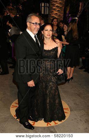 Emilio Estefan Jr. and Gloria Estefan at the 2007 Vanity Fair Oscar Party. Mortons, West Hollywood, CA. 02-25-07