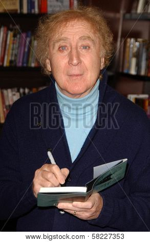 Gene Wilder at an in store appearance to promote his book