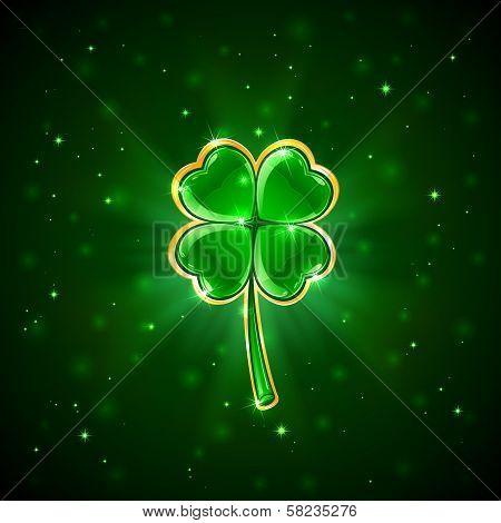 Green shiny clover