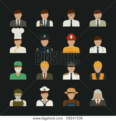 People icon professions icons worker set eps10 vector format poster