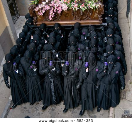 Religious Processions In Holy Week. Spain