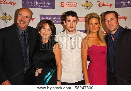 Dr Phil McGraw and family at Starlight Starbright Children's Foundation's