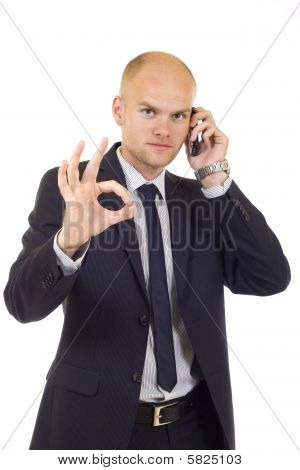 Businessman On The Phore