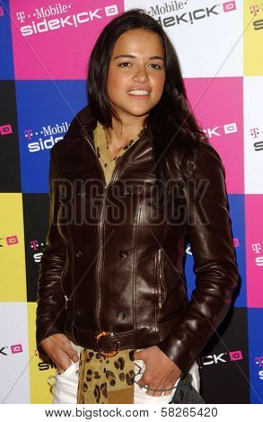 Michelle Rodriguez at the launch of T-Mobile Sidekick ID, T-Mobile Sidekick Lot, Hollywood, CA. 04-13-07