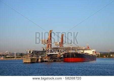 Loading Of Coal On Ship