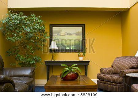 Spa waiting room.