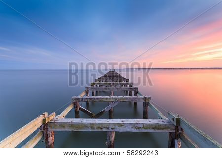Old jetty at dusk