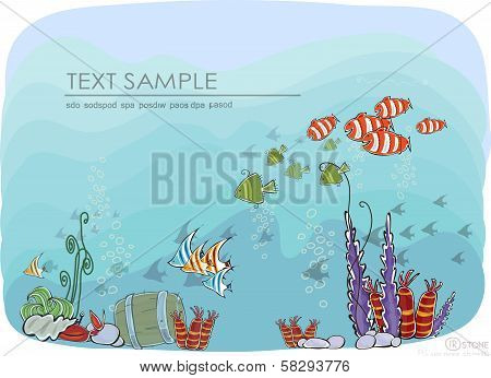 Under the Sea, Travel concept illustration