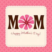Feminine Mother's Day Card/Poster with pattern border poster