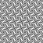 monochrome decorative helix pattern. for textured background Vector art poster