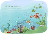 Under the Sea, Travel concept illustration Happy world collection poster