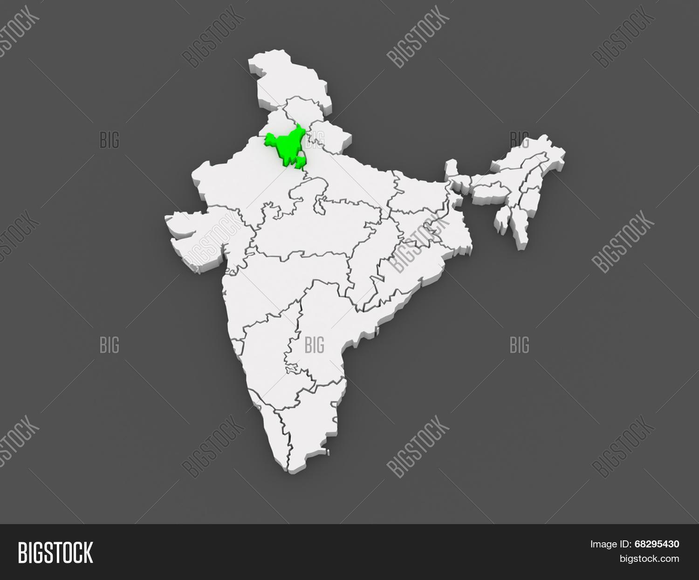 Haryana India Map.Map Haryana India 3d Image Photo Free Trial Bigstock