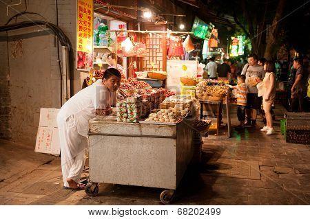 Chinese market by night