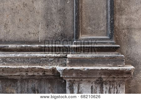 Element Of The Old Stone Facade Italian House