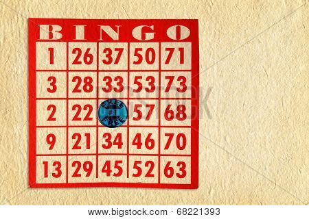 Bingo Card On Parchment