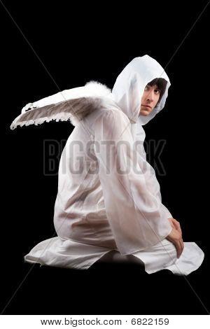 Man Wearing White