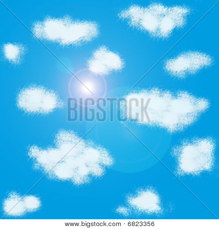 Clouds Pattern With Flare