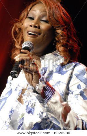 Yolanda Adams performing live.