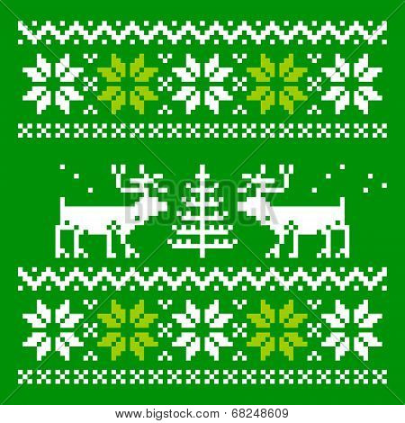 Scandinavian ornament for use in the clothing industry poster