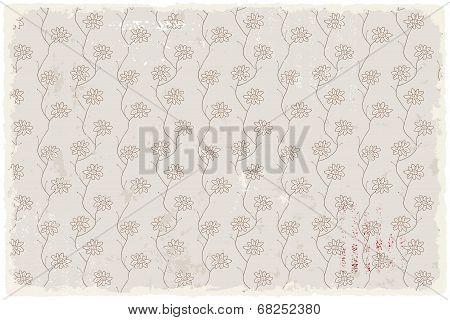 Floral vintage wallpaper retro background. Vector