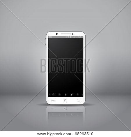 White Mobile Smartphone