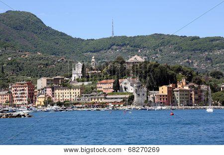 SANTA MARGHERITA, ITALY - MAY 04,2014: Santa Margherita Ligure is a comune (municipality) in the province of Genoa in the Italian region Liguria, located about 35 kilometres (22 mi) southeast of Genoa