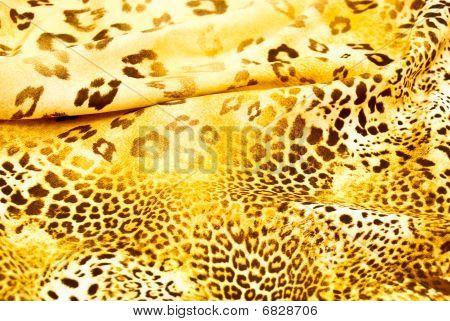 Beautiful Silk Scarf With A Predatory Pattern